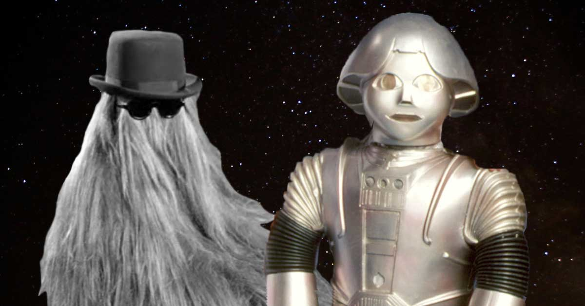 twiki from buck rogers and cousin itt of the addams family were