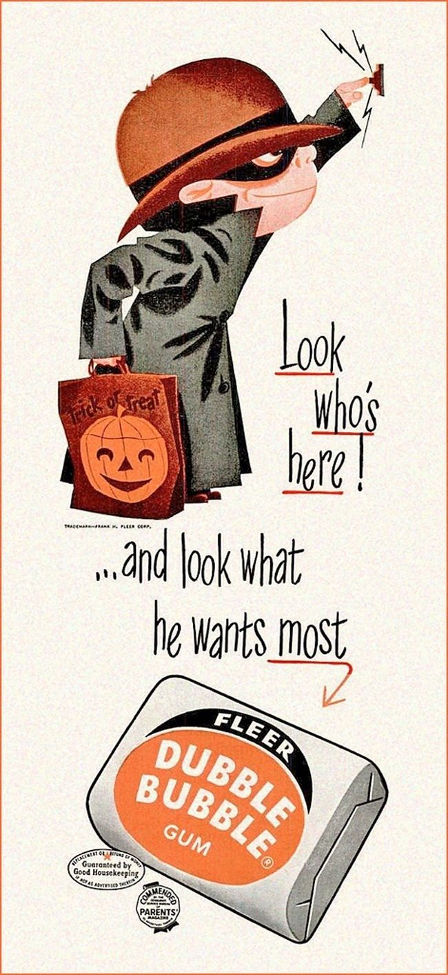 This Delightfully Impish Kid Showed Up On Trick Or Treat Bags Too