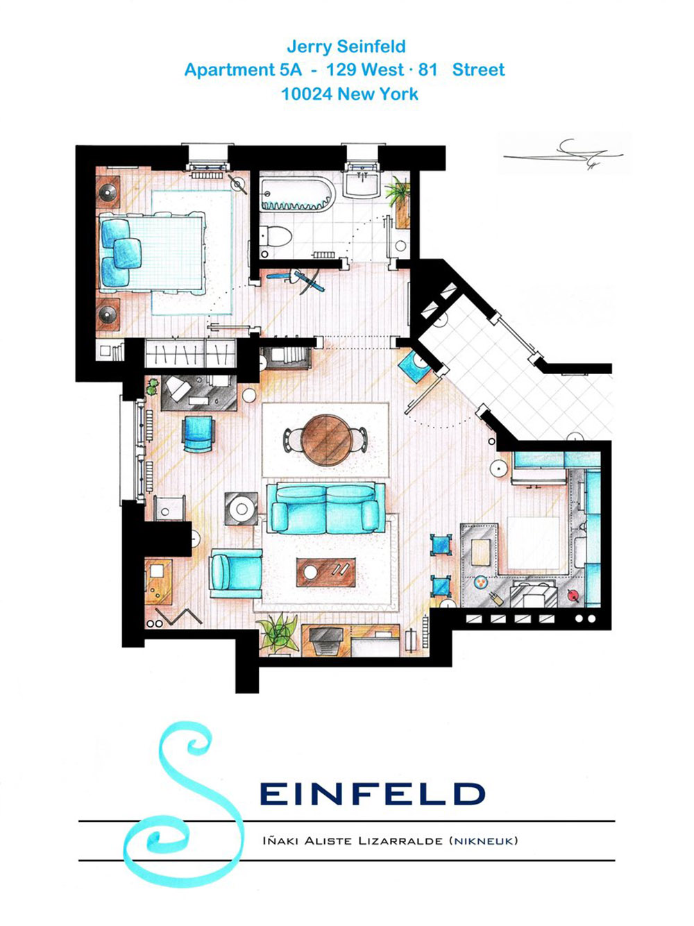 An Artist Recreated The Floor Plans For These 9 Tv Homes And Results Are Incredible