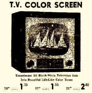 Who Remembers Putting Color Screens On Their Black And White Tv Sets
