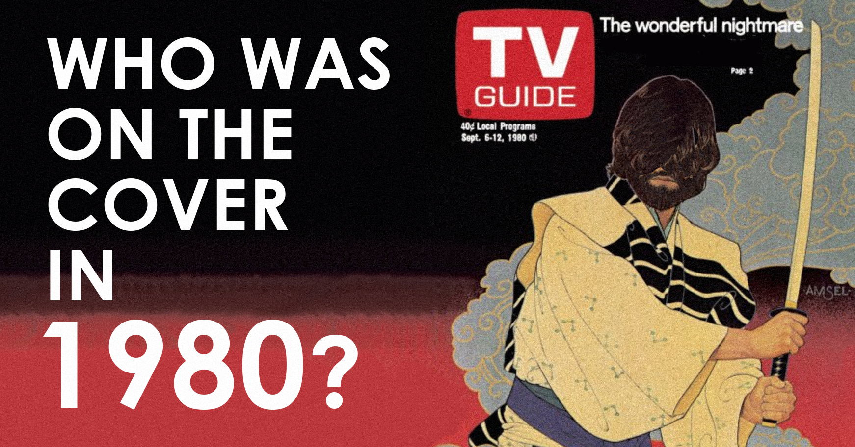 Can you name celebrities on the cover of TV Guide in 1980?