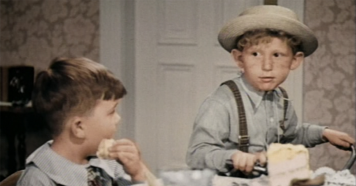 LEONARD LANDY, THE RED-HAIRED, FRECKLE-FACED MEMBER OF THE LITTLE RASCALS