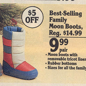 did you own a pair of moon boots as a kid