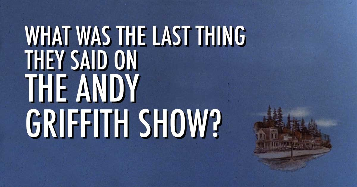Can You Match Andy Griffith Show Characters To The Last