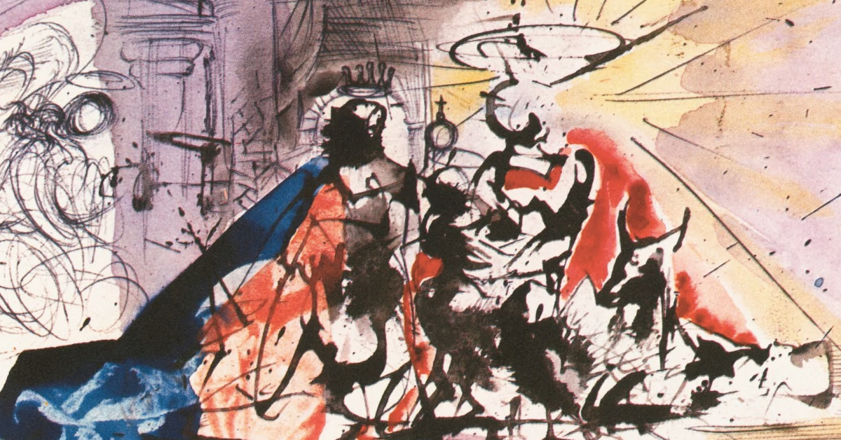 these salvador dali christmas cards were the shock of the season in 1960 - Art Christmas Cards