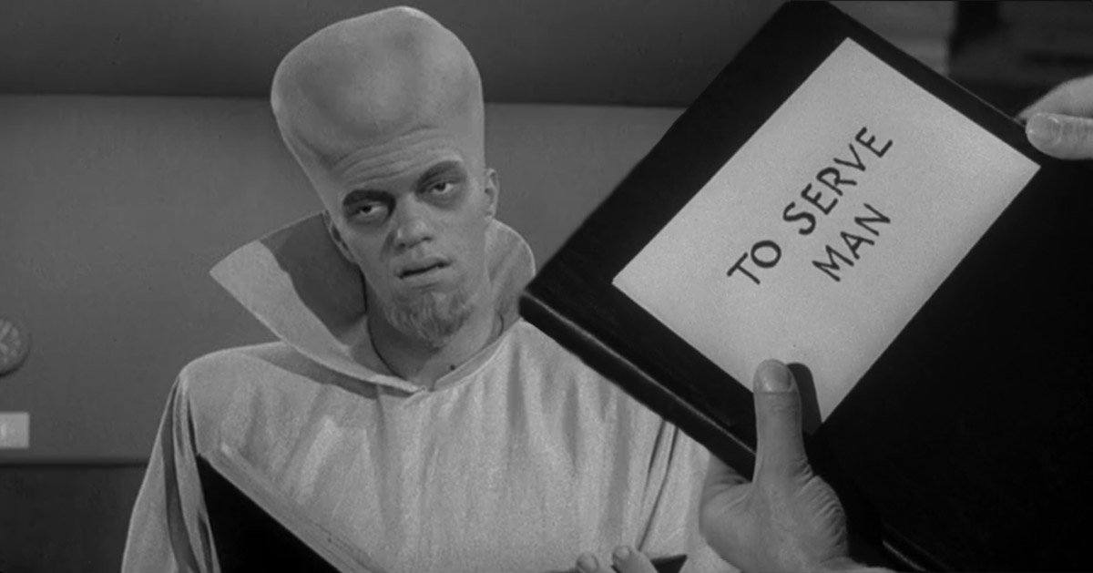 Image result for twilight zone to serve man