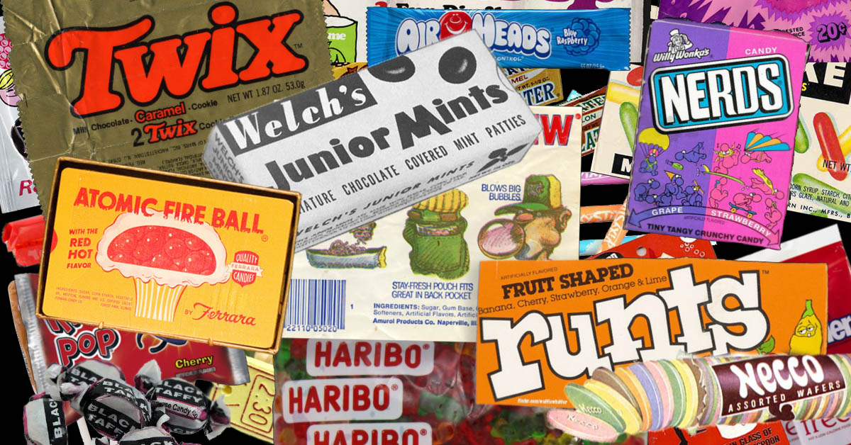 Which decade had the best Halloween candy?