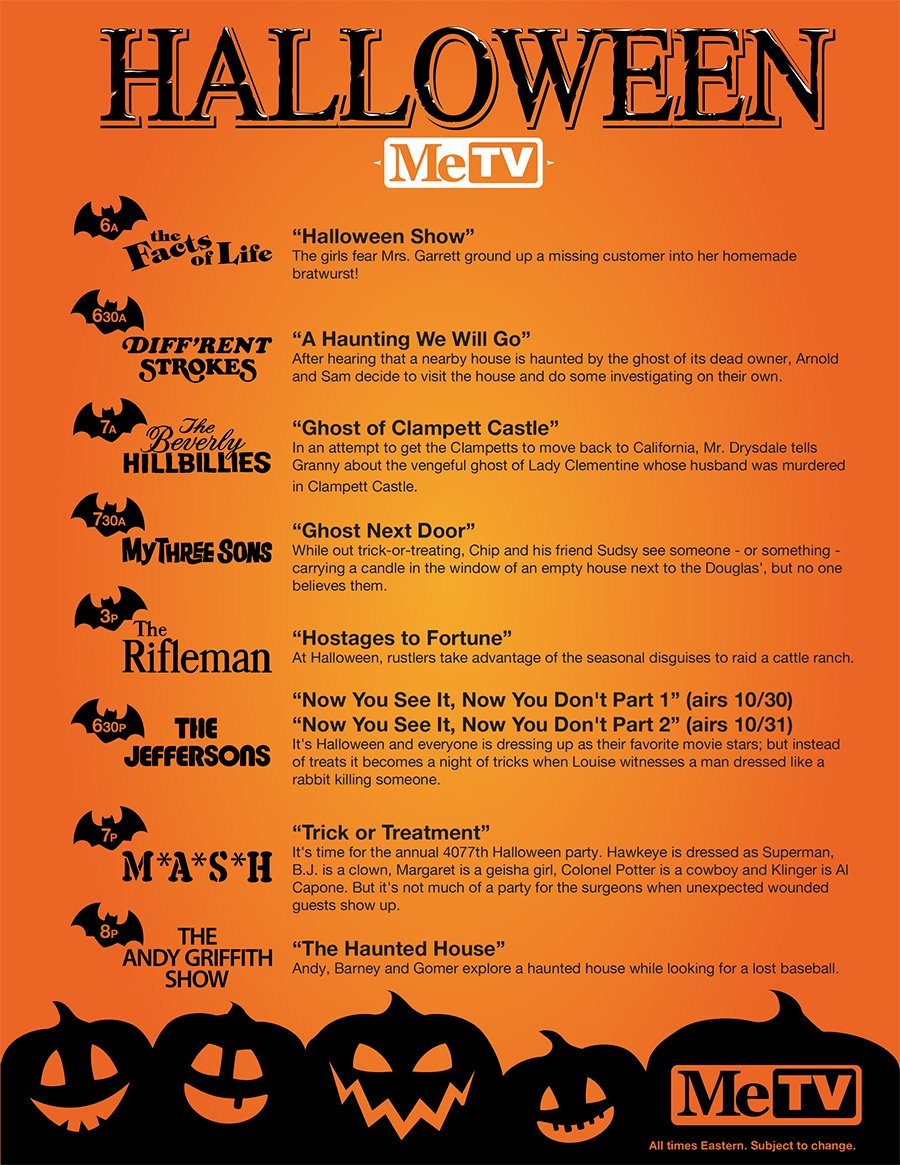 celebrate halloween with spooky special episodes this wednesday on metv