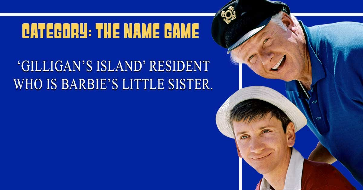 Can you solve real Jeopardy! clues exclusively about Gilligan's Island?