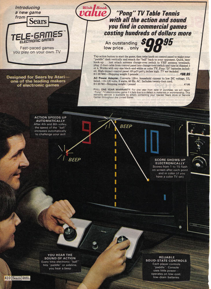 The Atari Home Pong console is 40 years old