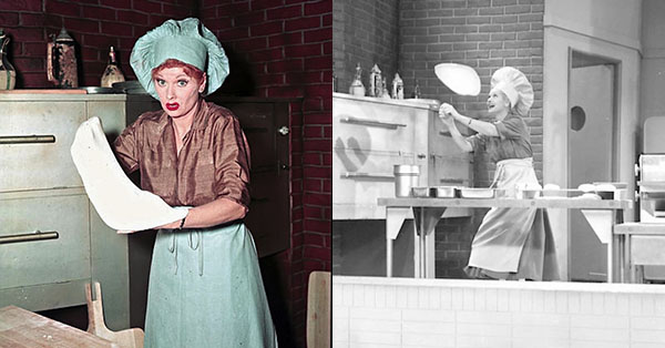 11 rare color photos from the set of i love lucy for I love lucy coloring pages