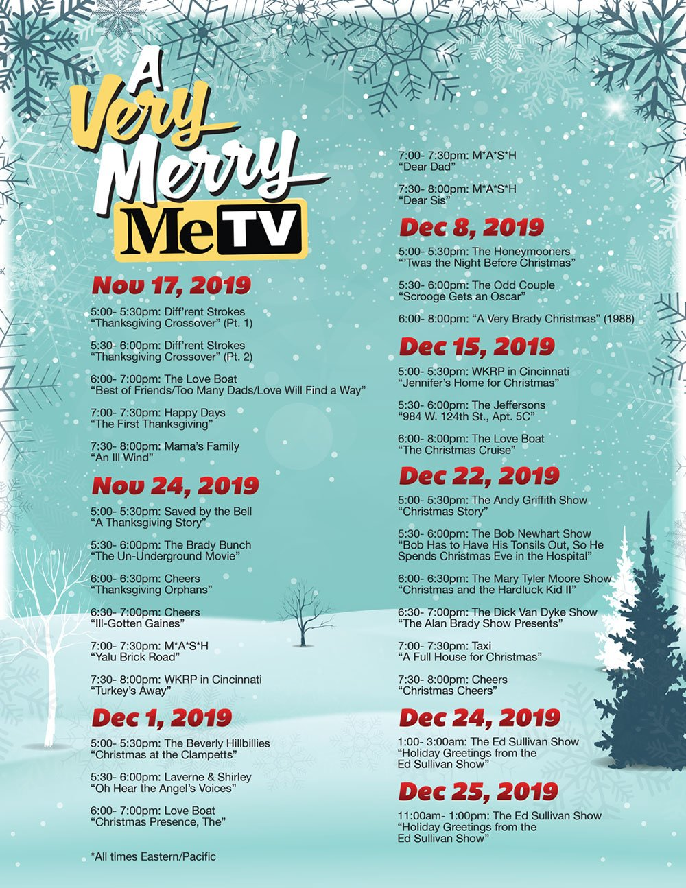 Metv Christmas Schedule 2020 Watch classic holiday episodes and specials all season with A Very