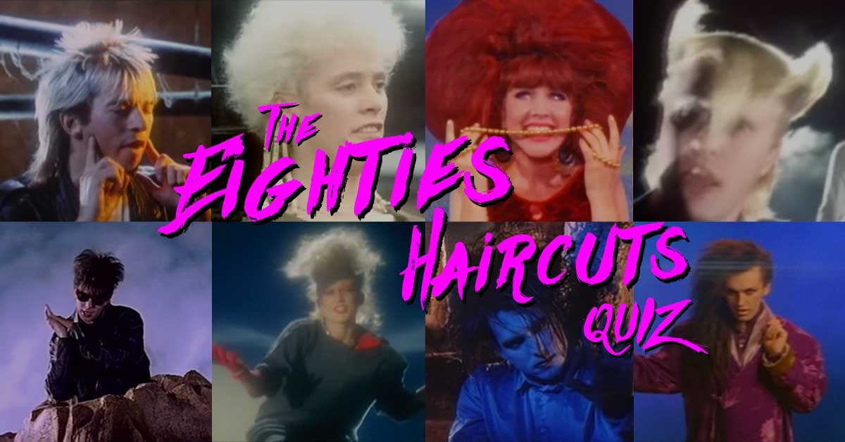 Match these outrageous haircuts to the correct '80s new-wave