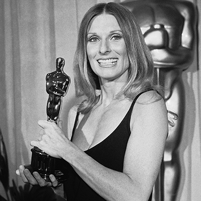 Cloris Leachman wins her first Academy Award