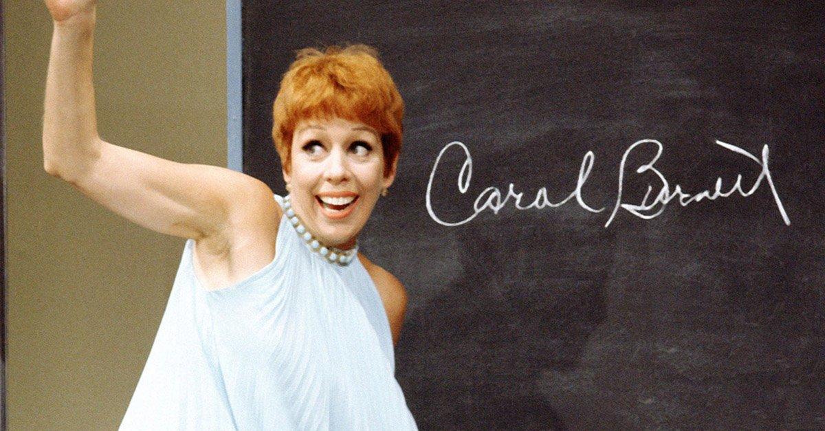 Carol Burnett waving