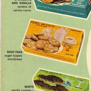 girl scout cookie Vintage