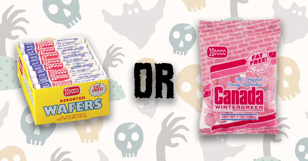 old timey taste test necco wafers or canada mints