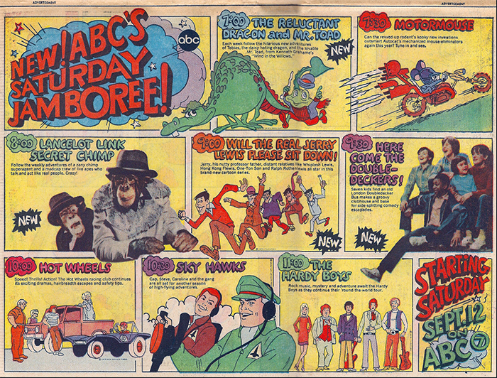 do you remember all these 1970s saturday morning cartoons
