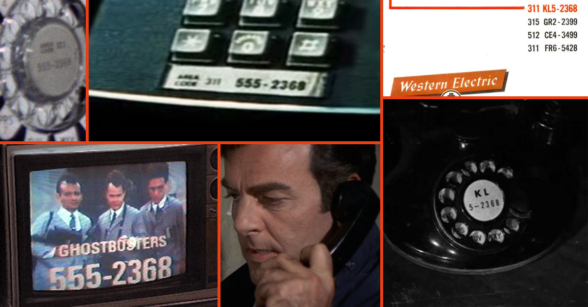Ever wonder why every fictional character seems to have the phone number  555-2368?