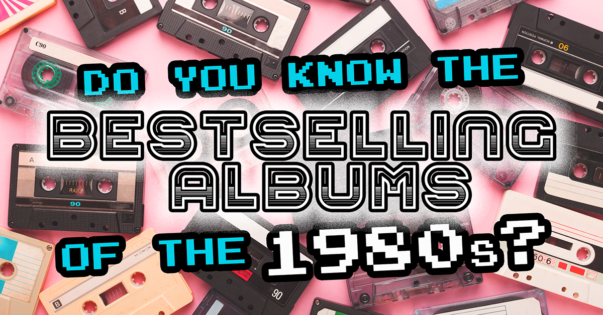 Can you name the bestselling records of the 1980s from the