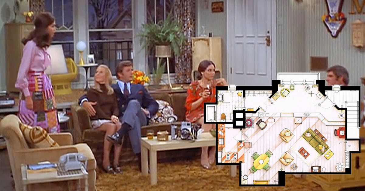 An artist recreated the floor plans for these 9 TV homes and the – Floor Plans Of Tv Homes