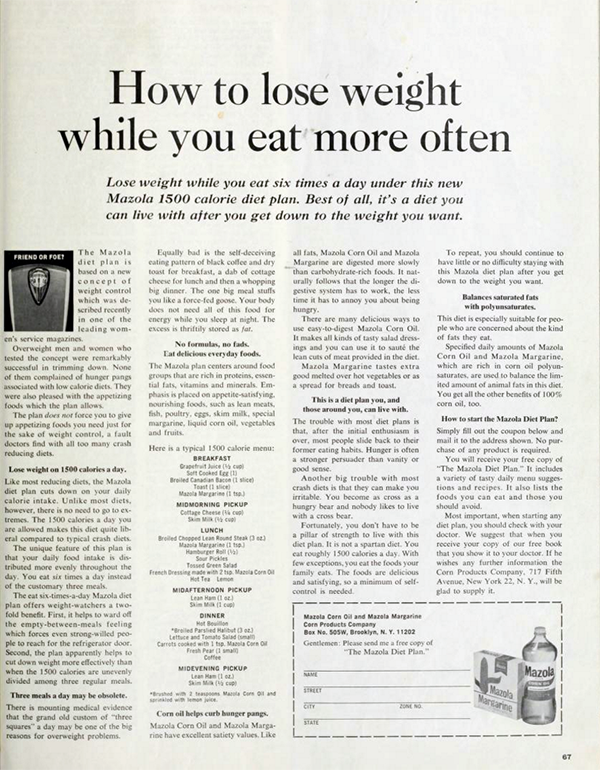 Here's what dieting looked like in the 1960s