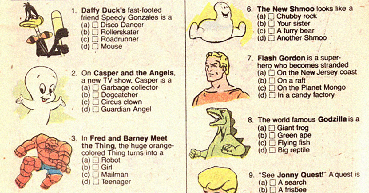 Cartoon Characters Quiz Questions And Answers : Can you pass nbc s saturday morning cartoons quiz from