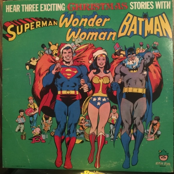 christmas superheroes hear three exciting christmas stories with superman wonder woman batman - Classic Christmas Albums