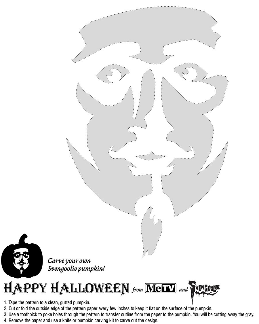 Carve a svengoolie jack o lantern with this official pumpkin stencil will you be too chicken to try this out maxwellsz