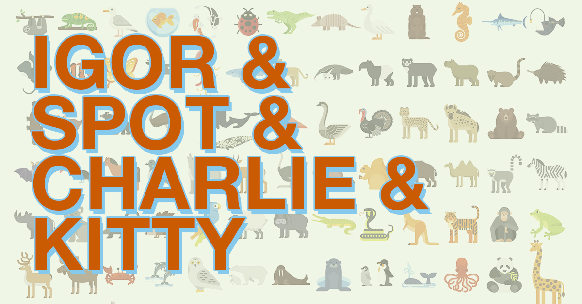 Can you identify the TV show by the names of its animals?