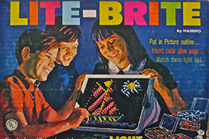 "When launched in 1967, Lite-Brite was billed in catalogs as ""an amazing new toy that lets a child color with light."" It came with 16 pre-printed picture ..."