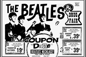 10 drug store chains you will never shop at again 1970s Pop Culture American drug fair began in 1954 and a decade later they were pushing beatlemania gear seen in this vintage ad you could pick up the exclusive beatles necklace