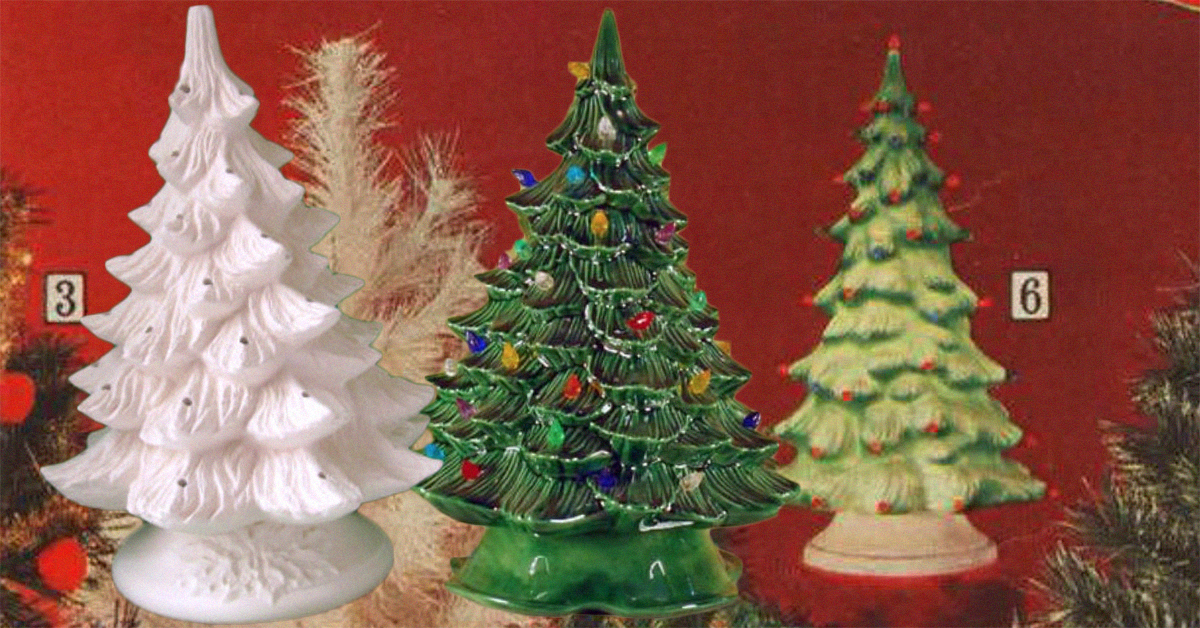 ceramic christmas trees are the hottest vintage holiday decoration - Christmas Tree Decorated With Vintage Ornaments