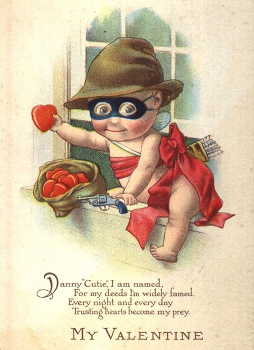 14 creepy vintage Valentine cards to use if you want to