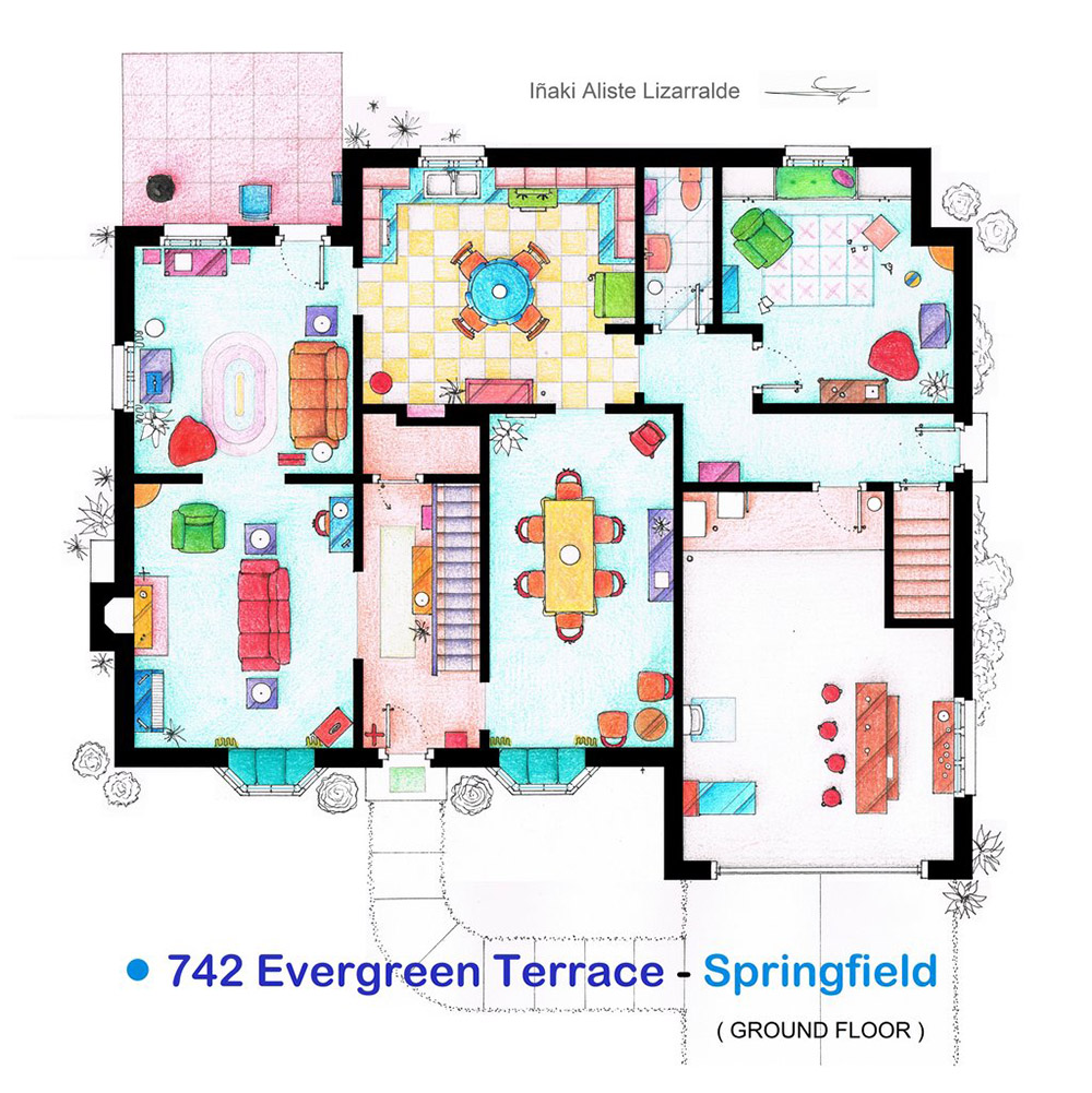 An Artist Recreated The Floor Plans For These 9 TV Homes And The Results  Are Incredible