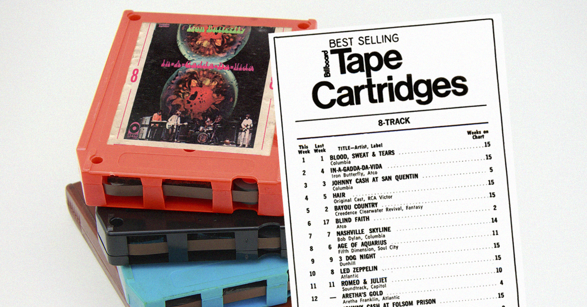 The 9 Bestselling 8 Track Tapes Of 1969