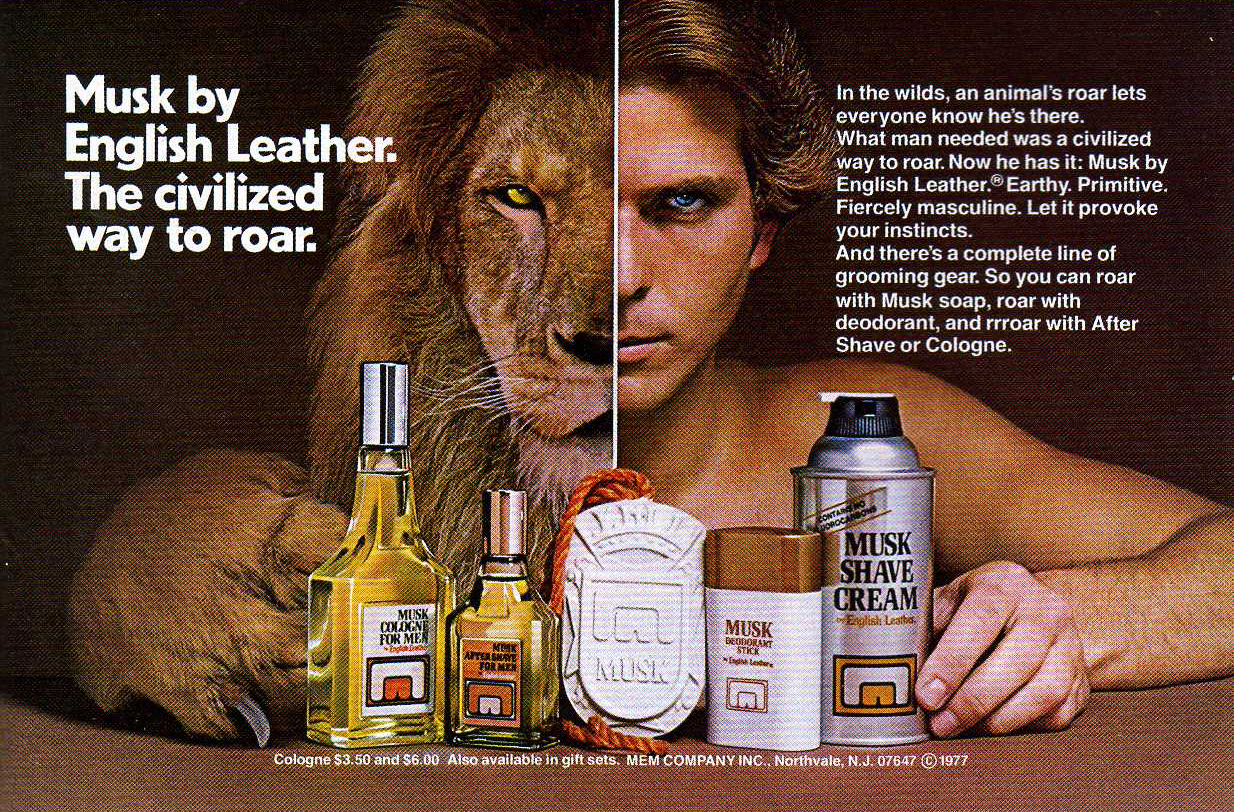 Mens cologne from the 70s