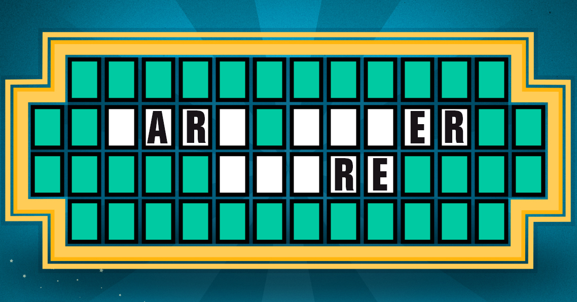 Letter Wheel Of Fortune Puzzle
