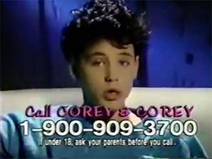 Back in the '80s, people called 1-900 numbers to meet celebs