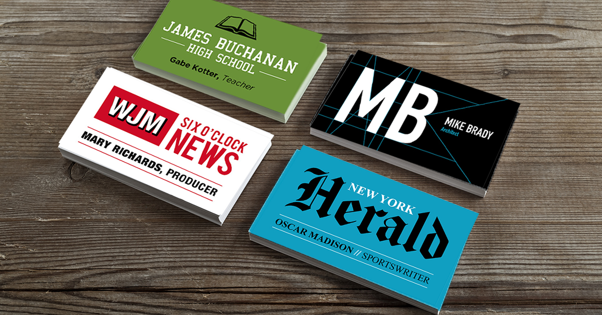 We made 28 business cards for classic tv characters colourmoves