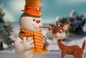 although the animation style is different frosty the snowman was produced by the same company that made rudolph the red nosed reindeer
