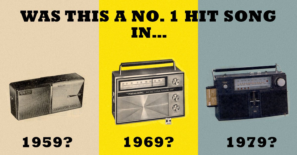 Can you remember if this was a No  1 hit song in 1959, 1969 or 1979?