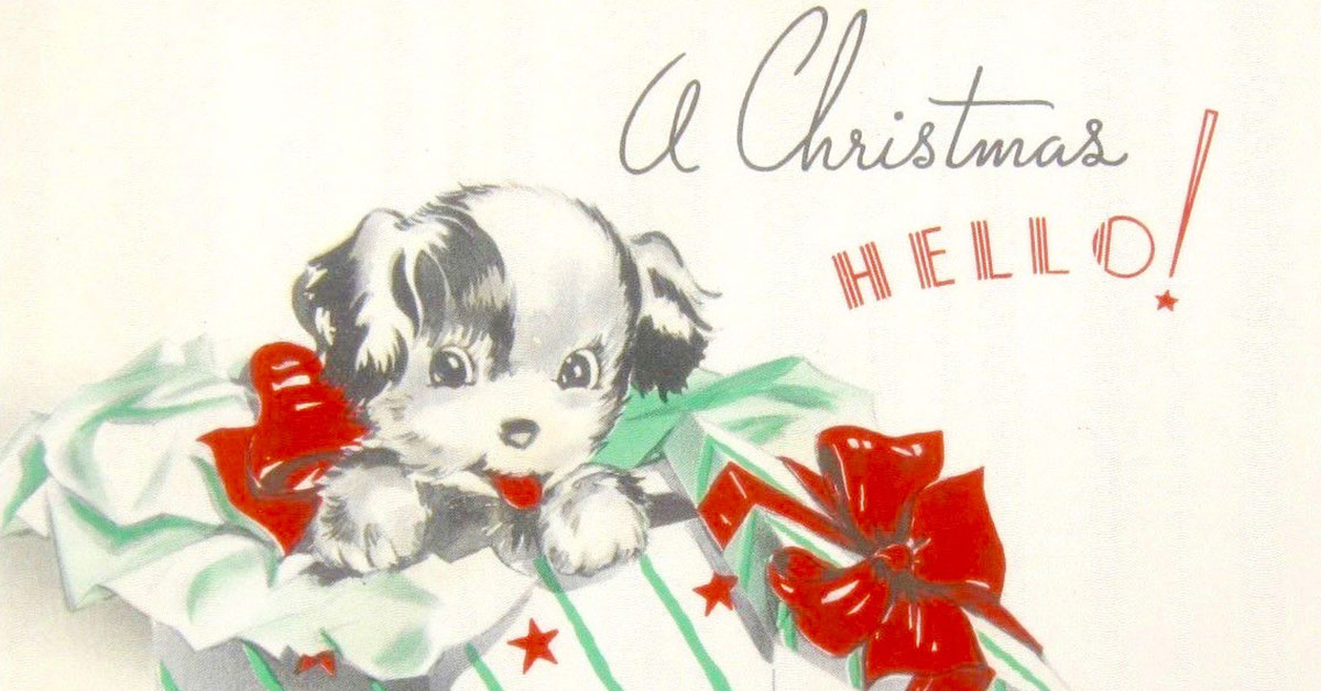 Get in the Christmas spirit with these retro greeting cards ...