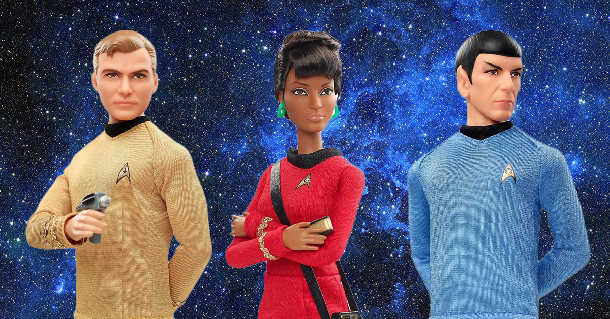 Spock kirk and uhura get the barbie treatment for the th