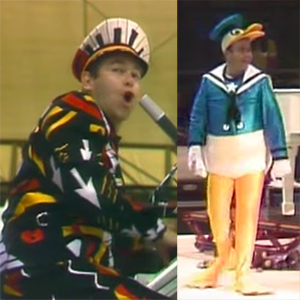In 1981, Elton John trotted into Central Park to make a TV movie out of a  concert he performed there. Not only does he have three costume changes  (see a